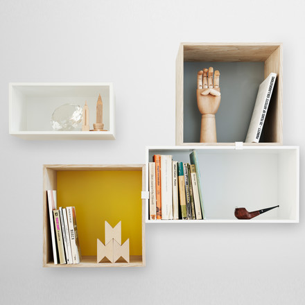 Muuto - Mini Stacked Shelving System, ambience image wall