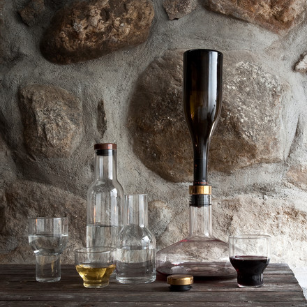 Menu - Stackable Glass and Wine Breather