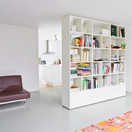 Flötotto - Shelving System 355, white - room divider