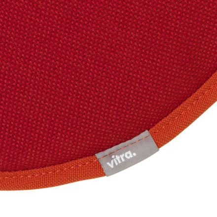 Vitra - Seat Dots, red / dark red - Logo, fabric
