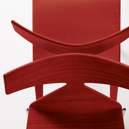 Arper - Saya Chair, red - details, from above