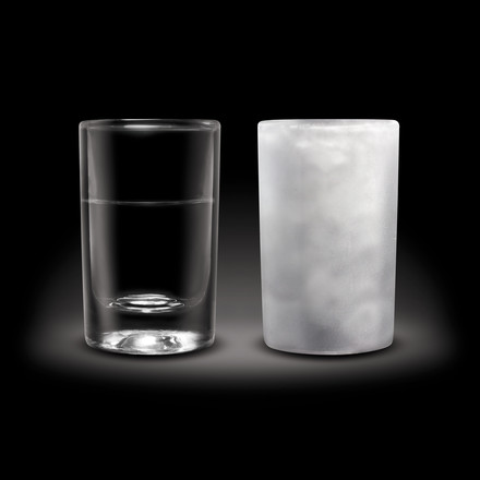 Amsterdam Glass - Shot Glass, 45 ml - normal and frozen