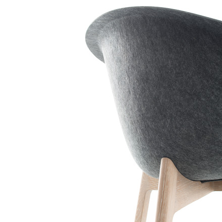 Conmoto - Chairman, oak wood, grey - Detail, backside