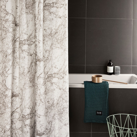 Ferm Living - Shower Curtain, Marble