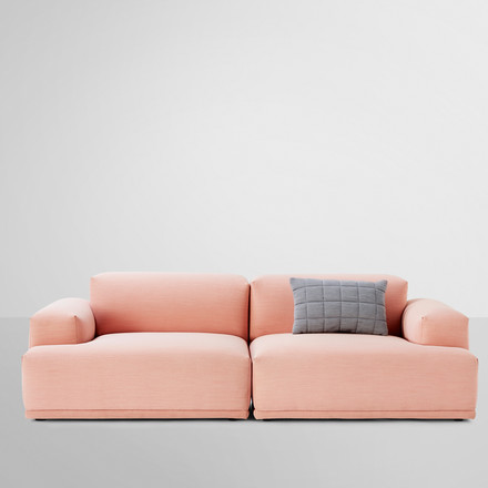 Muuto - Connect Sofa, pink - A- / B-module