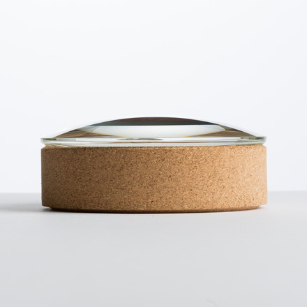 Hay - Lens Box / Lid, Ø 14, cork, glass - lateral