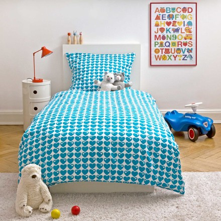 byGraziela - Children's bed linen Hearts, blue
