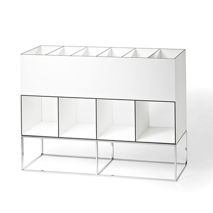Wogg 52 storage system (Typ 52-203) - with base, chrome