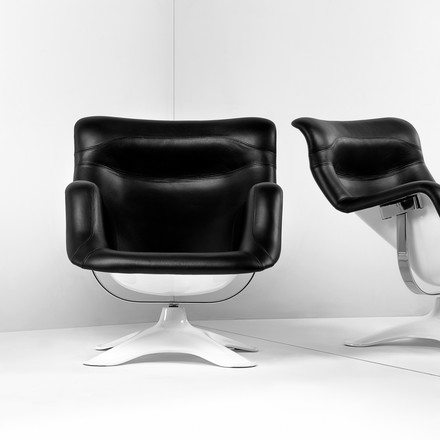Artek - Karuselli Lounge Chair, black / white