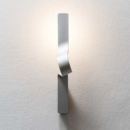 Formagenda - Tape Wall Lamp silver, front view
