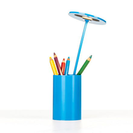 Formagenda - E.T. Table Lamp - blue, with pens