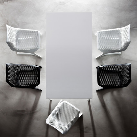 Plank - Myto Chair, black, white