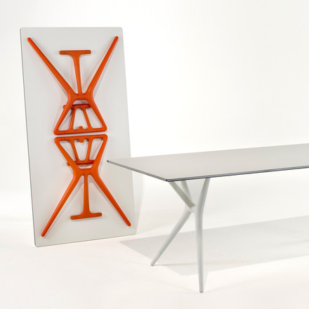 Kartell - Spoon Table, white and orange