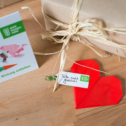 Donation German Agro Action Welthungerhilfe: A heart