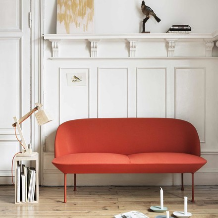 Muuto - Wood Lamp, orange cable