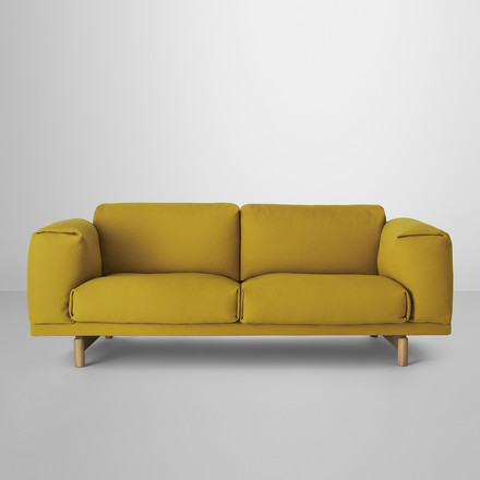 Muuto - Rest Sofa 2-seats, yellow, situation image