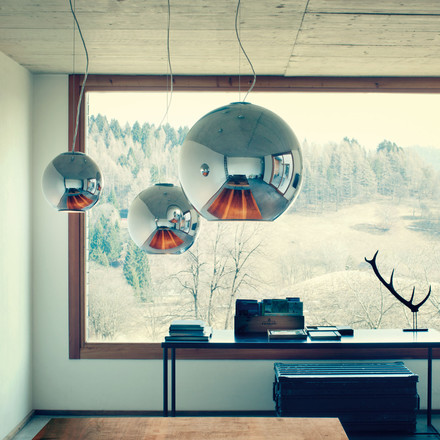 Globo di Luce Pendant Lamp by FontanaArte chrome-plated
