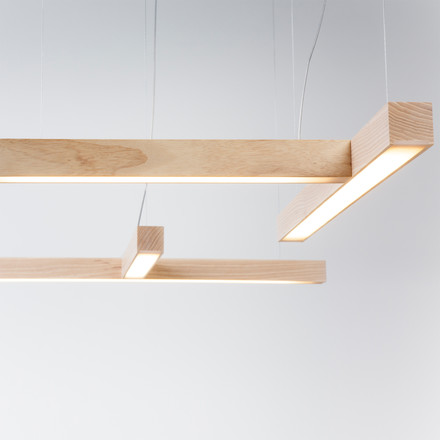 Led 28 and 40 pendant lamps by Tunto in combination