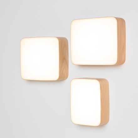 Cube wall lights by Tunto in S, M and L