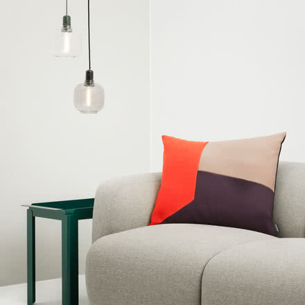 Normann Copenhagen - Amp Pendant Lamp, over table next to couch