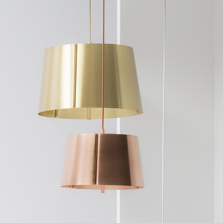 Wästberg - Lindvall Pendant Lamp w124s, duo of cooper and brass