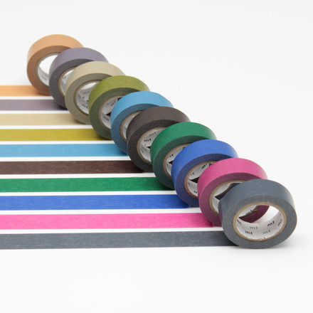 Masking tape - 10P dark colour (10 pcs.)