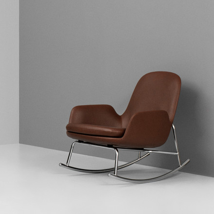 Normann Copenhagen - Era Rocking Chair low, brown