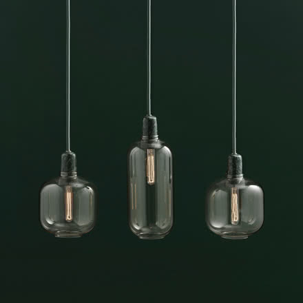Normann Copenhagen - Amp Pendant Luminaire, gold / green, group