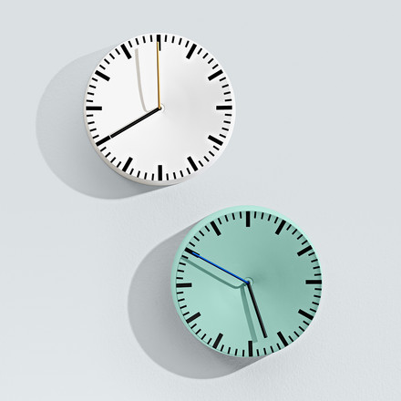 Hay - Analog Clock, mint, white