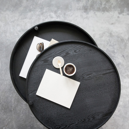 Menu - Turning Table, black ash