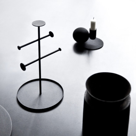 Menu - Optical Candle Holder, black