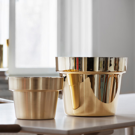 Skultuna - Flower Pot duo, brass
