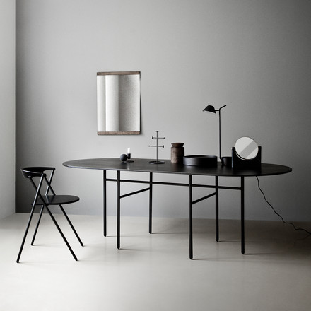 Menu - Snaregade Table, Oval, Black Veneer
