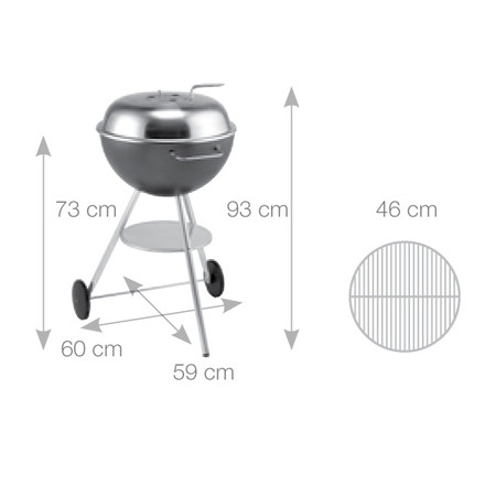 Dancook - measurements kettle grill 1000
