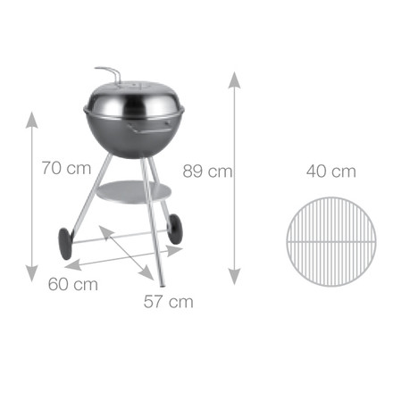 Dancook - measurements 1600 kettle grill