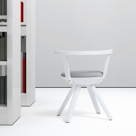 Artek - KG 001 Rival Chair Low white, white, black/ white