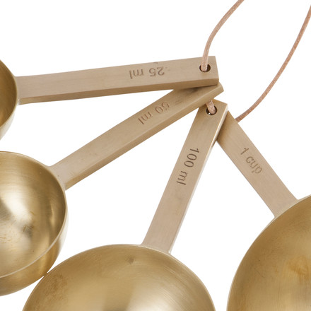 ferm living - Measuring Spoons, brass