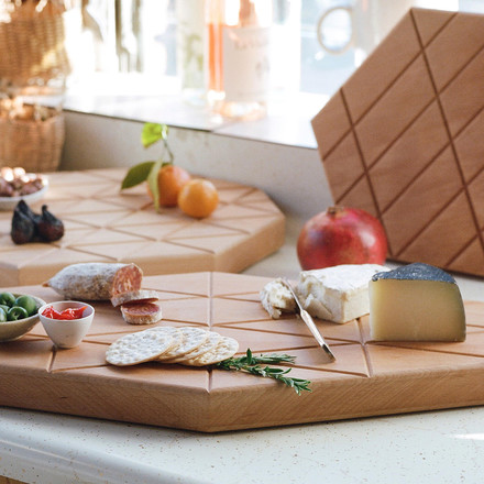 areaware - Grid Serving Boards of oiled beech
