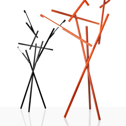 Foscarini - Tuareg Floor Lamp in orange and black