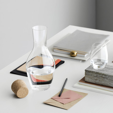 Holmegaard - Cabernet water carafe with cork on the table