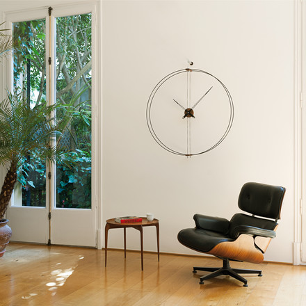 Barcelona wall clock by nomon in black