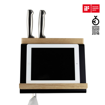 Multi-functional tablet holder for the kitchen