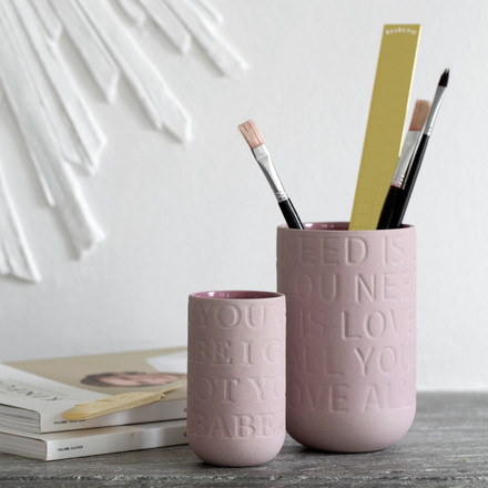 Vases as a brush or pen holder
