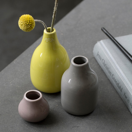 Ceramic vases in many colours