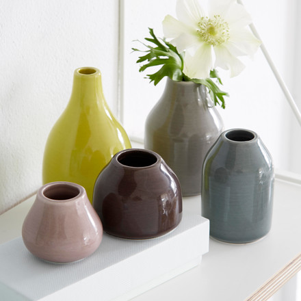 Glazed ceramic vases