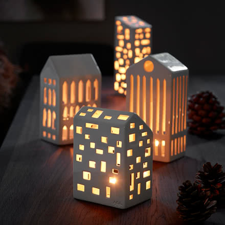 Tea light houses for Christmas