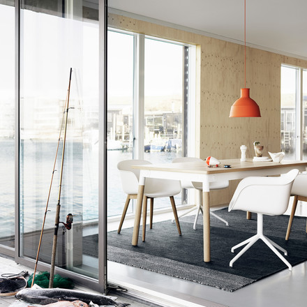 Unfold pendant lamp by Muuto in orange