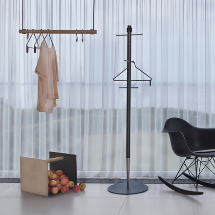 Pencil wardrobe, Container and Swing hanging coat rack by LindDNA
