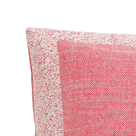 A decorating cushion with two sides