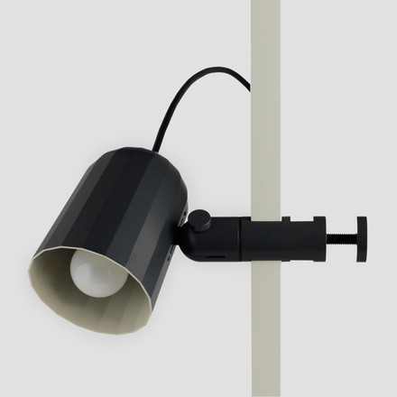 Clamp lamp in dark grey